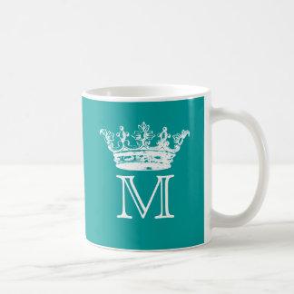 Monogramme vintage de couronne mugs