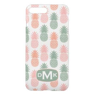 Monogramme vintage du motif | d'ananas coque iPhone 7 plus