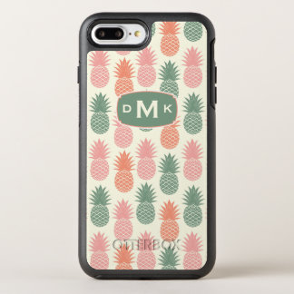 Monogramme vintage du motif | d'ananas coque otterbox symmetry pour iPhone 7 plus