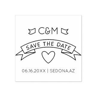 Monogrammes de mariage. Faites gagner la date.