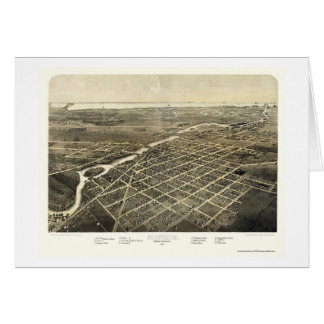 Monroe, carte panoramique de MI - 1866