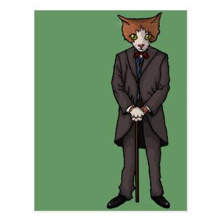 Monsieur Cat, carte postale