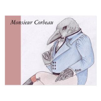 Monsieur Corbeau Postcard Carte Postale