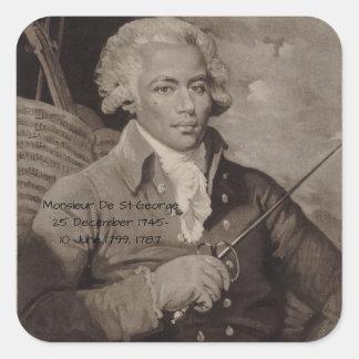Monsieur De St George Sticker Carré