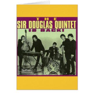 Monsieur Douglas Quintet Carte De Vœux