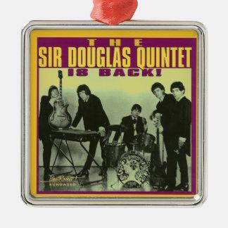 Monsieur Douglas Quintet Ornement Carré Argenté