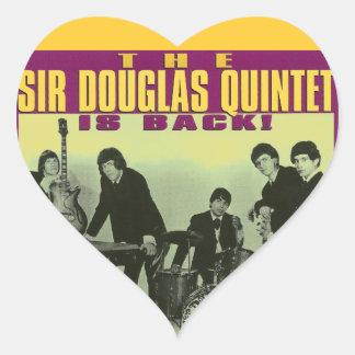 Monsieur Douglas Quintet Sticker Cœur