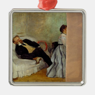 Monsieur et Madame Edouard Manet d'Edgar Degas | Ornement Carré Argenté