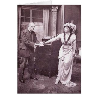 Monsieur Gérald du Maurier et Mlle Ellis Jeffreys Carte De Vœux