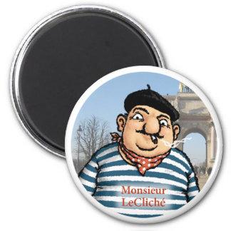 Monsieur LeCliché Magnet Magnet Rond 8 Cm