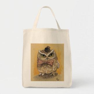 Monsieur Owl Dapper Gent Sacs De Toile