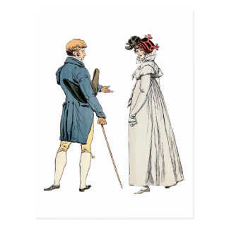 Monsieur victorien et Madame Carte Postale