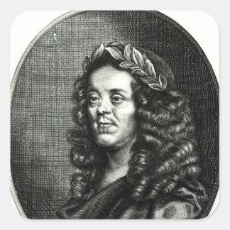 Monsieur William Davenant Autocollants Carrés
