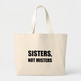 Monsieurs de soeurs pas grand tote bag