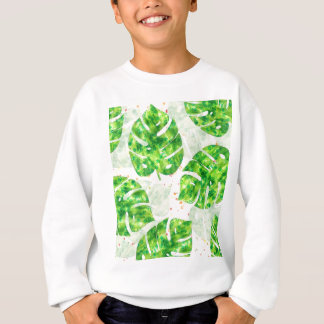 Monstera tropical laisse le motif unique sweatshirt
