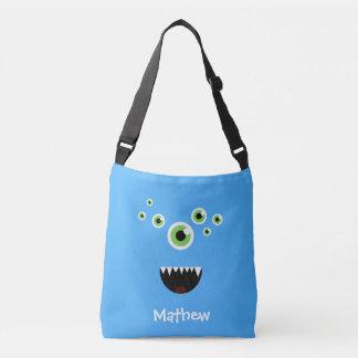 Monstre bleu mignon fou drôle unique sac