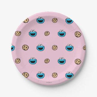 Monstre de biscuit et motif de rose de biscuits assiettes en papier