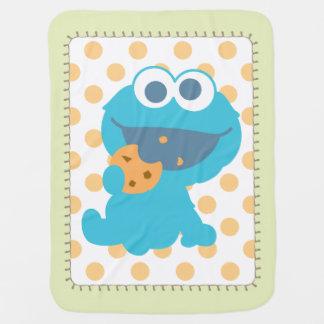 Monstre de biscuit mangeant le biscuit couvertures de bébé