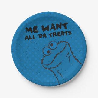 Monstre de biscuit - tous les 'festins du DA ! Assiettes En Papier