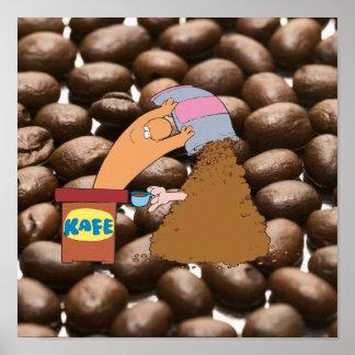 Monstre de café poster