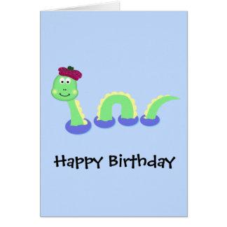 Monstre de Loch Ness Carte De Vœux