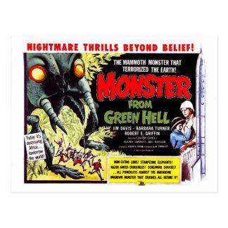 Monstre d'enfer vert carte postale