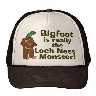 Monstre drôle de Bigfoot Loch Ness Casquettes