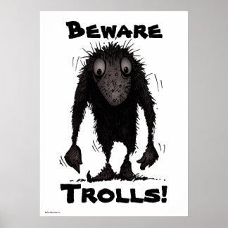 Monstre drôle Troll Poster