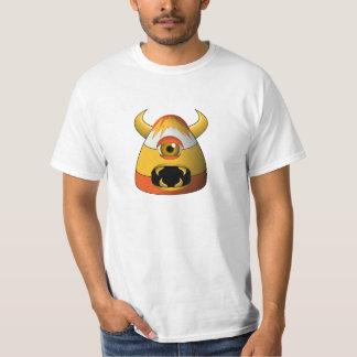 Monstre fâché de bonbons au maïs déplaisants t-shirt