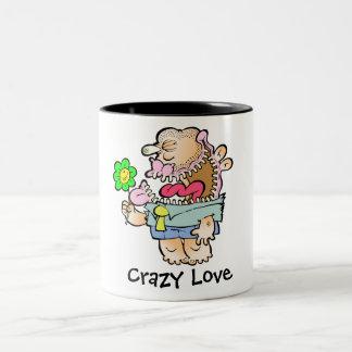 Monstre idiot absurde, tasse à deux tons d'amour