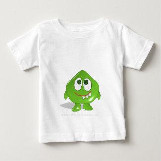 Monstre vert de goutte t-shirt pour bébé