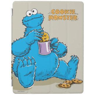 Monstre vintage de biscuit mangeant des biscuits protection iPad