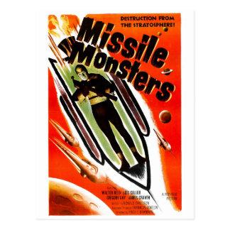 Monstres de missile carte postale