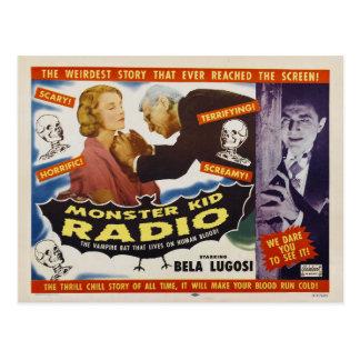 Monstres de vampire de carte postale de radio
