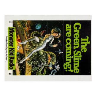 Monstres gluants de carte postale de radio