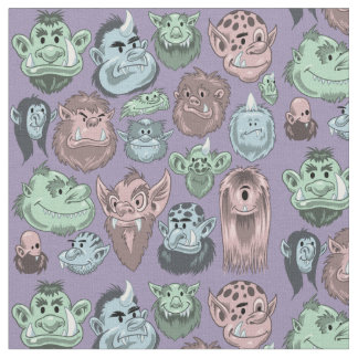 Monstres heureux tissu