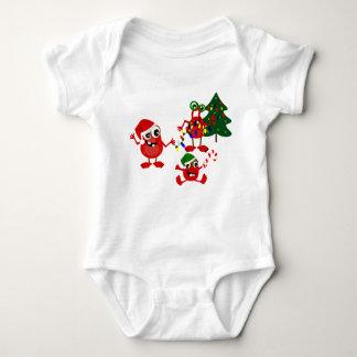Monstres mignons de Noël de vacances Body