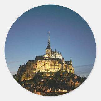 Mont St Michel Adhésifs Ronds