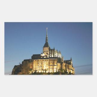 Mont St Michel Stickers Rectangulaires