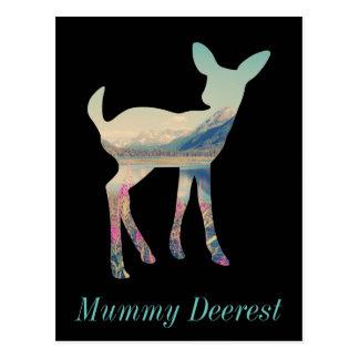 Montagne de cerfs communs carte postale