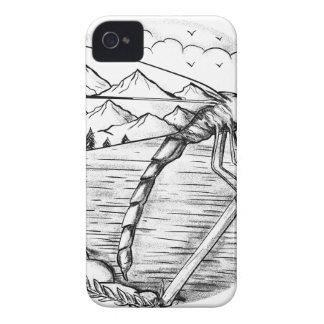 Montagne de libellule à l'intérieur de tatouage coque iPhone 4 Case-Mate