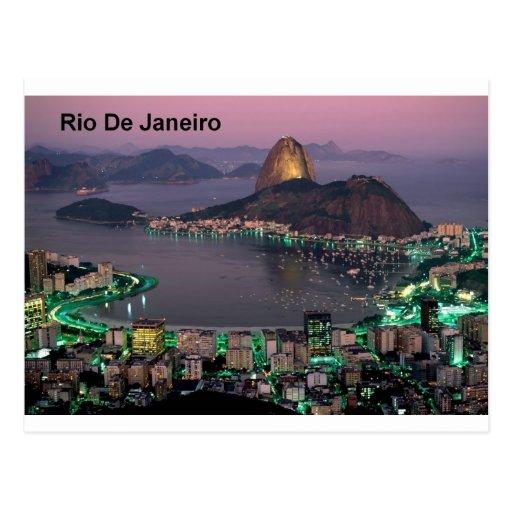 Montagne de pain de sucre de Rio de Janeiro du Bré Cartes Postales