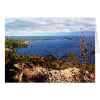 Montagne de Sugarloaf en automne Carte De Vœux