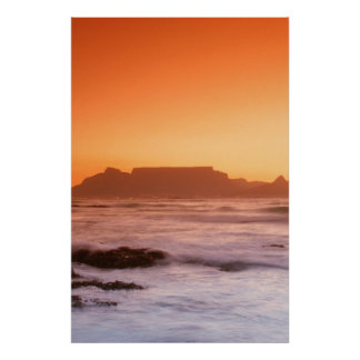 Montagne de Tableau au coucher du soleil, Poster