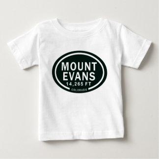Montagne rocheuse d'Evans 14.265 pi le Colorado de T-shirt Pour Bébé