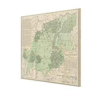 Montagnes blanches vintages New Hampshire Map Toiles
