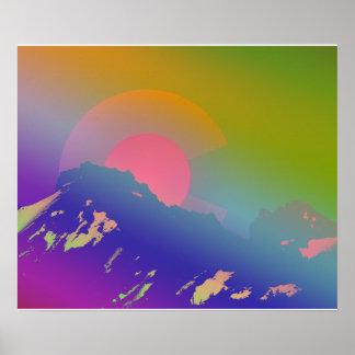 Montagnes colorées du Colorado Poster