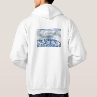 Montagnes couvertes par glace veste à capuche