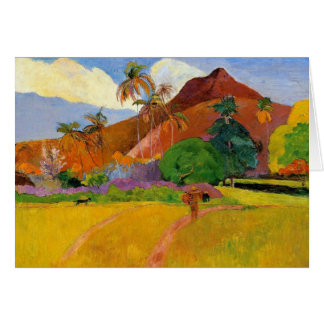 """Montagnes dans la carte du Tahiti"" - Paul Gauguin"