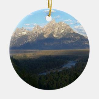 Montagnes de Jackson Hole (parc national grand de Ornement Rond En Céramique